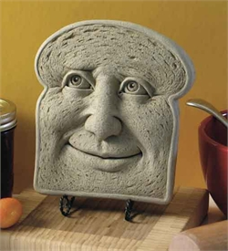 Slice of bread with a happy face