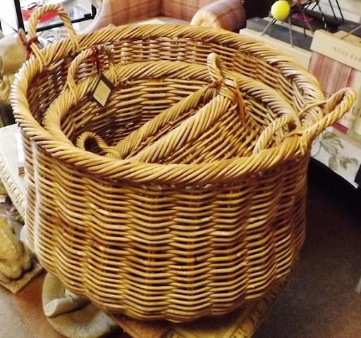 Three baskets sitting within each other