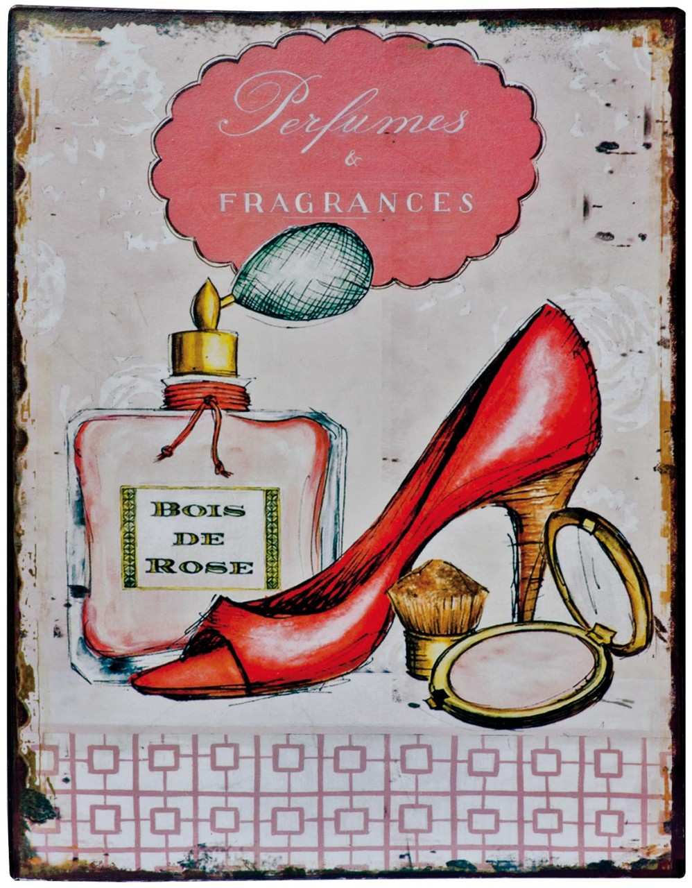 Ladies fashion tin plaque