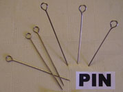 Upholstery pins sometimes known as skewers