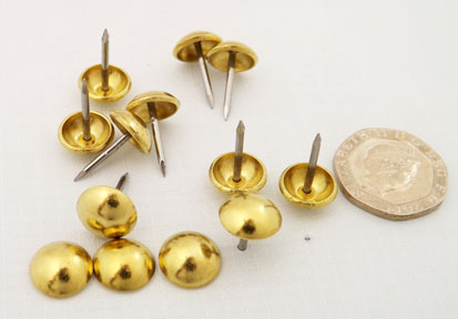 Nails - Decorative Polished Brass (Solid)
