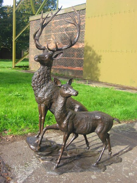 Bronze Stag & Hind