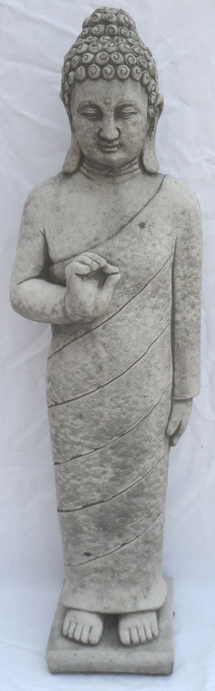 An upright Buddha figure
