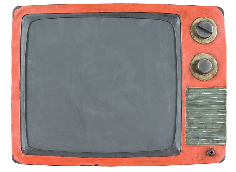 TV blackboard with orange surround