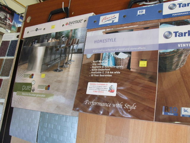 Vinyl flooring sample books