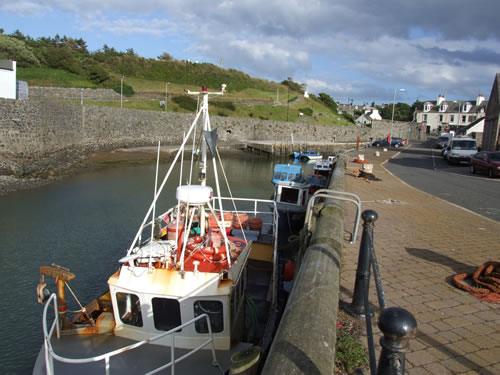 Boats in the harbour at Port William, just a mile or two from West View Care Home