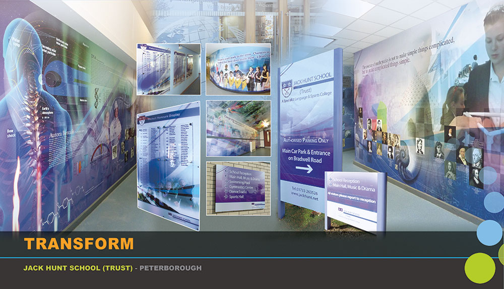 Jsck Hunt School - Wall wraps, Signage