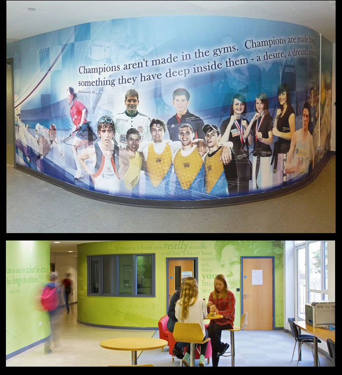 Jack Hunt PE Department, Beauchamp English wall wrap