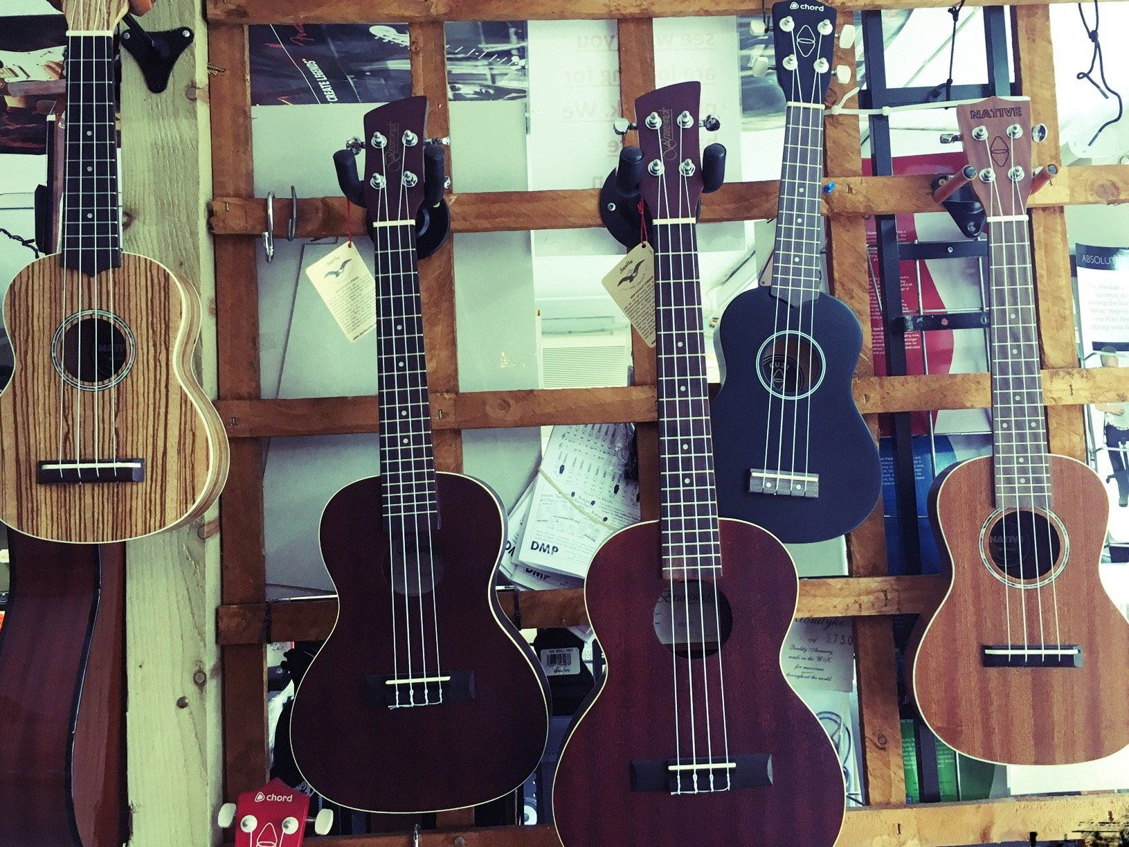 Ukuleles - Brunswick, Native & Chord