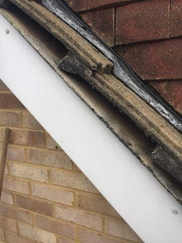 House roof with gaps down the side
