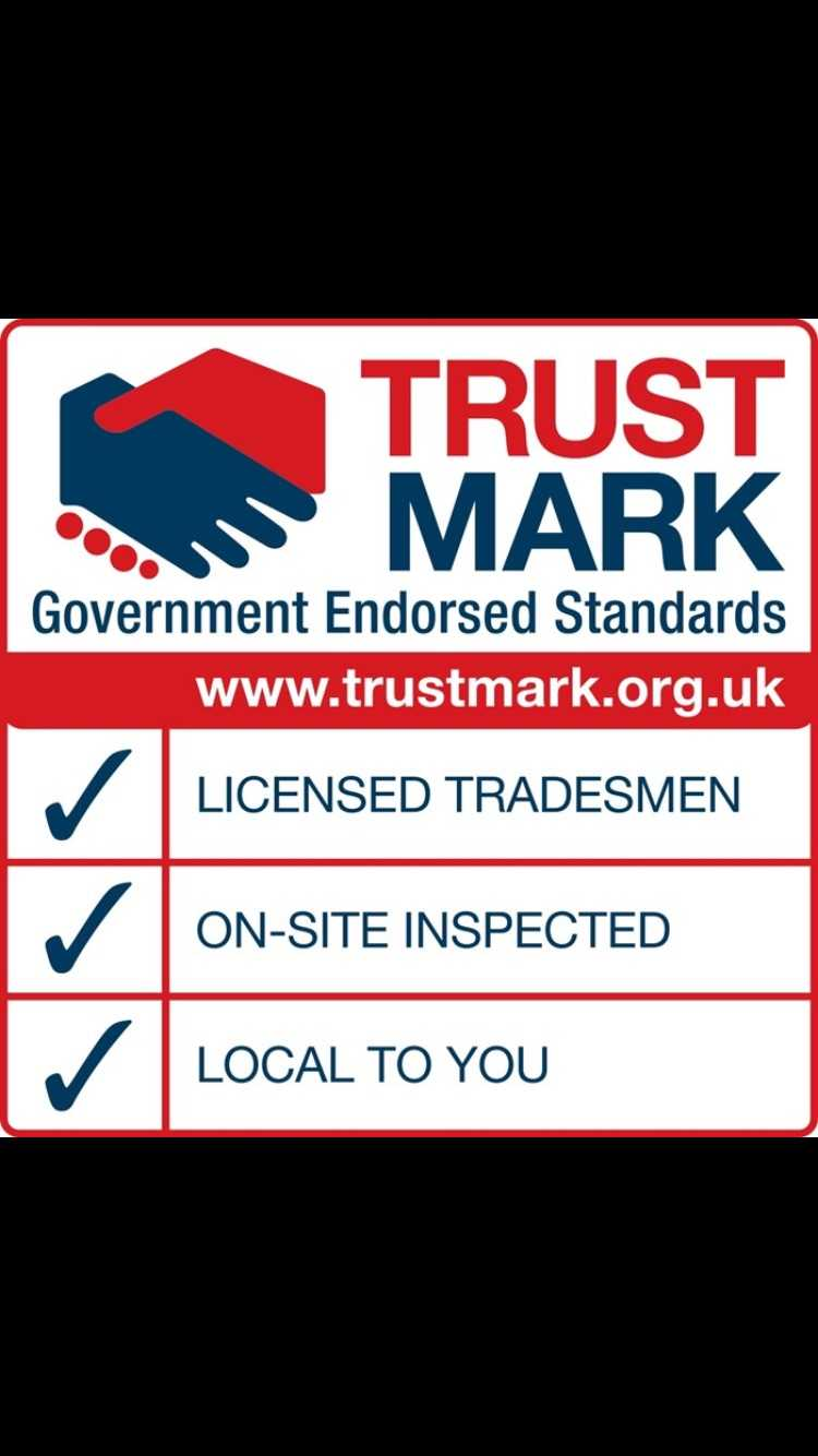The Trust Mark logo for which The Roofing Company is accredited