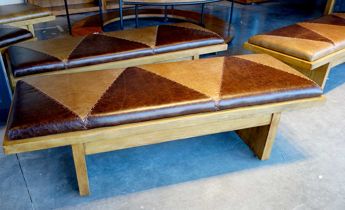 Exquisite Museum Benches with Hand Stitched Leather