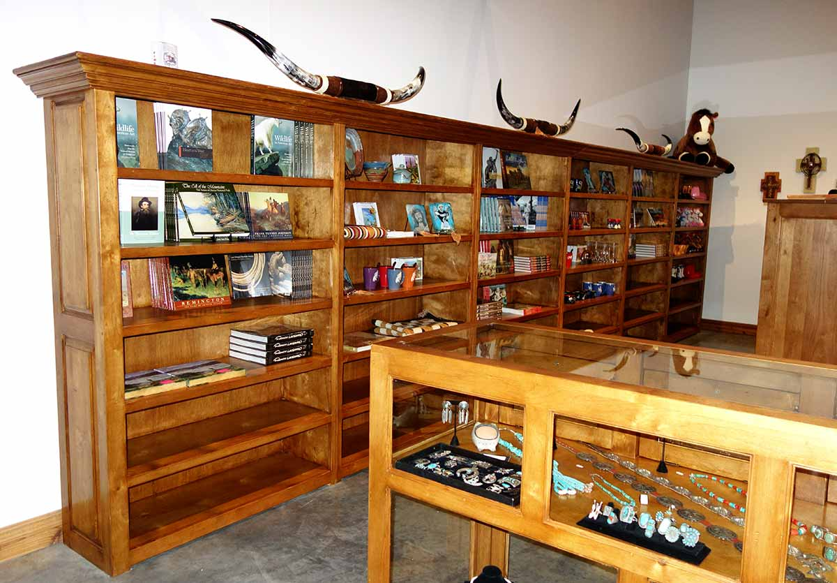 Large Fitted-Bookcase and other Rolling Ranch Racks for Museum of the West