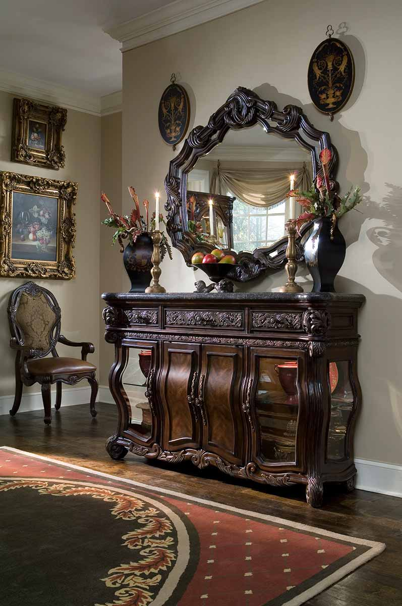 The Essex Manor sideboard and mirror