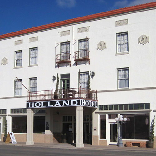The Holland Hotel as it is today in Alpine, Texas