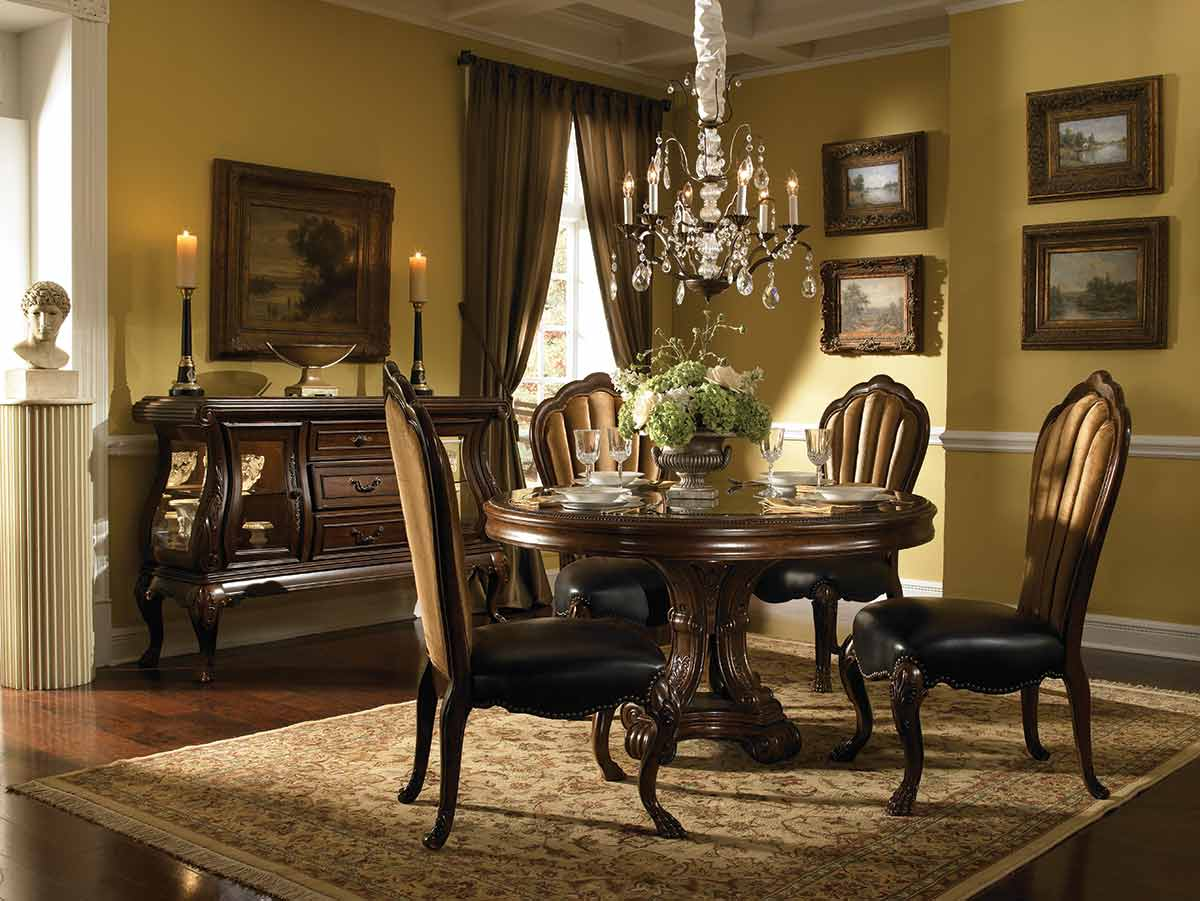 The Palace Gates round dining table and chairs