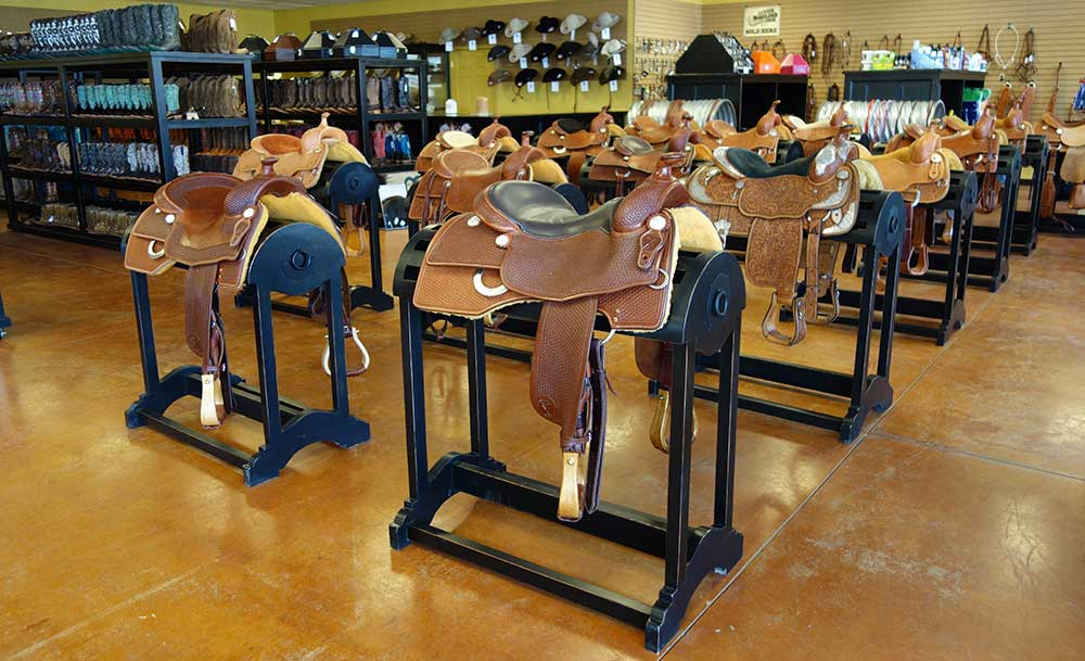 Laredo Saddle Racks in finishes of your choice