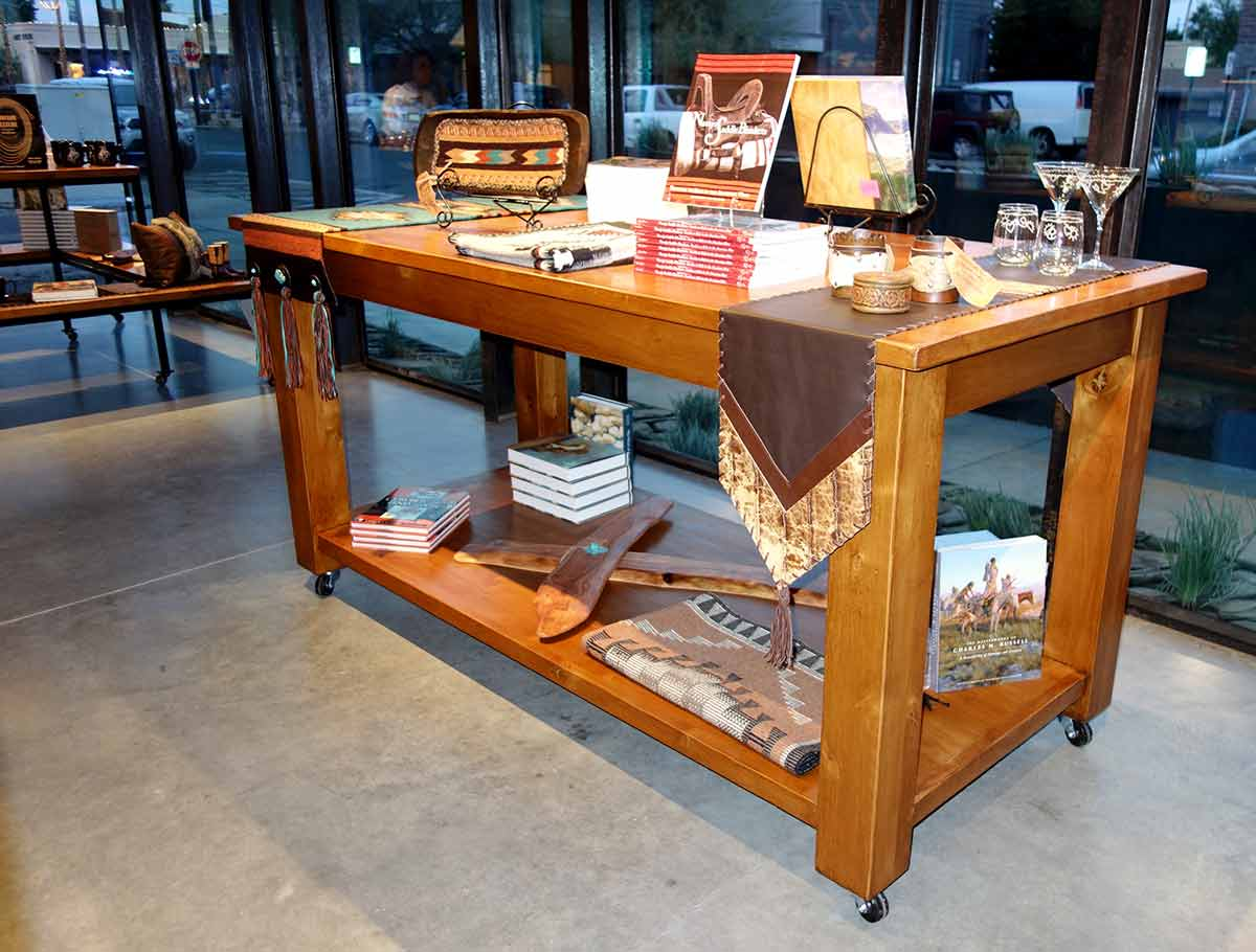 The finest Large Display Tables and Ranch Racks