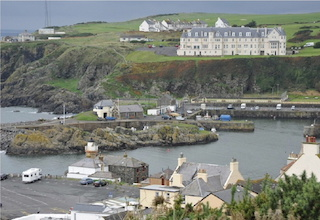 A view over Portpatrick Harbour on the west coast of Scotland