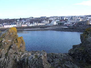 Looking over the harbour to the village of Portpatrick