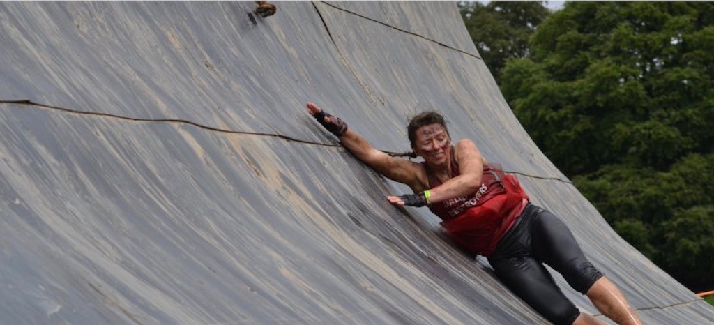 Simone Leslie at the Tough Mudder Challenge
