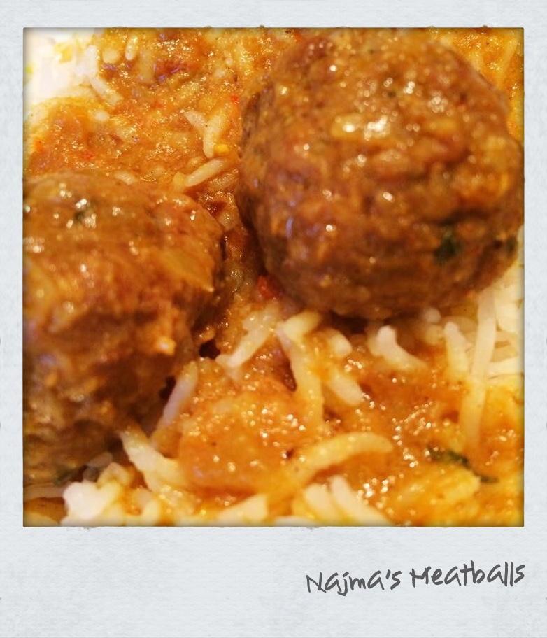Najma's Meatballs & Rice