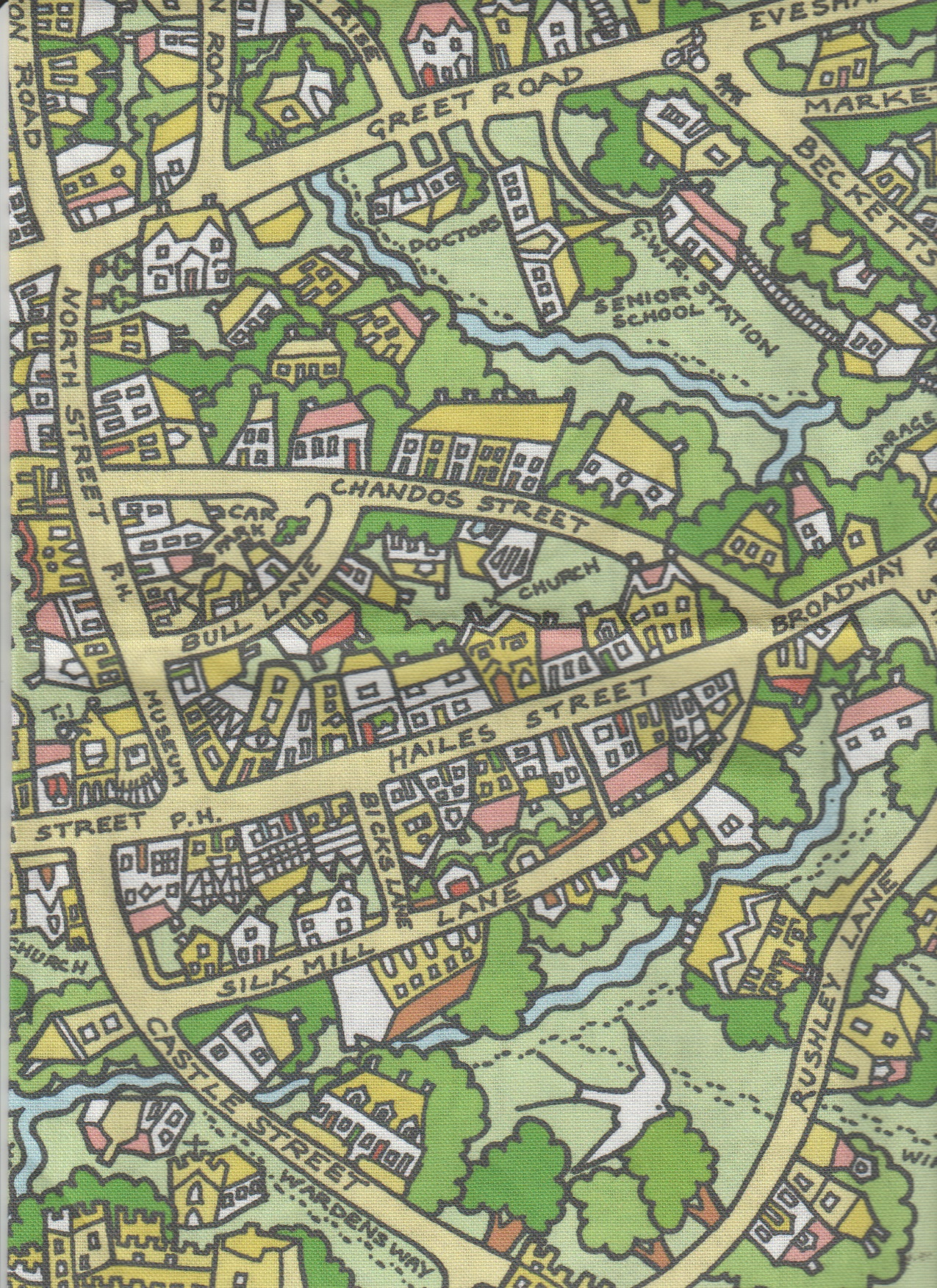 Cartoon map of winchcombe