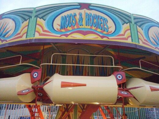 Close up of fairground ride 'Jets' at Dreamland Margate.