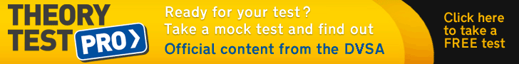 Theory test practice banner