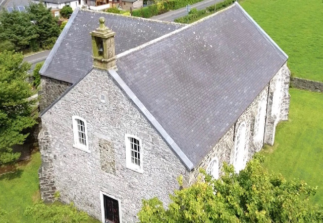 Aerial view of Leswalt Parish Church