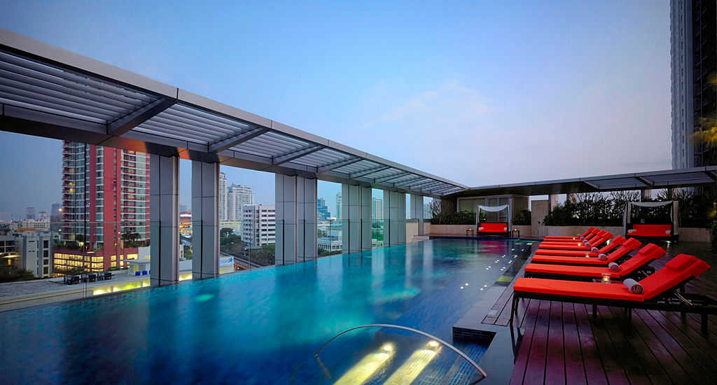 Accessible Marriott Hotel Bangkok Sukhumvit Pool