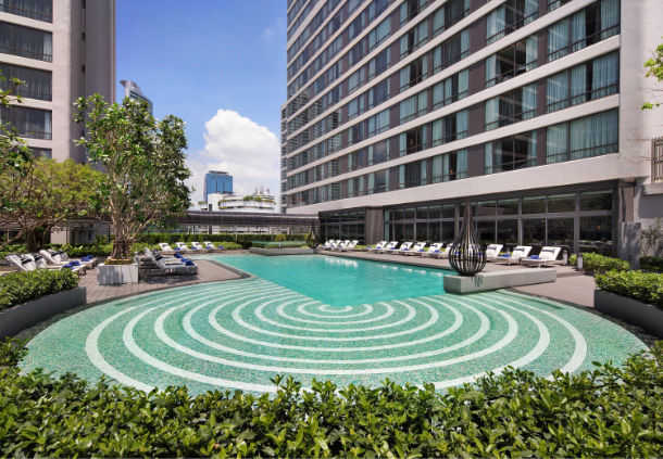 Accessible Marriott Hotel Bangkok QP Pool Day