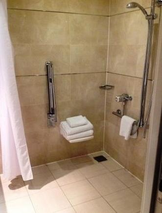 accessible hotel crewe hall roll in shower