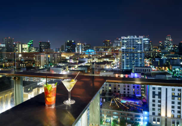 Accessible Marriott San Diego roof bar view