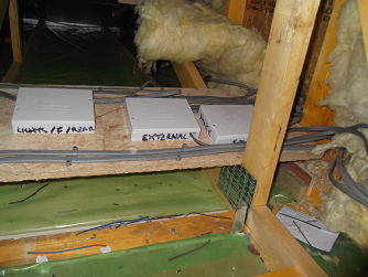 Joint boxes in attic