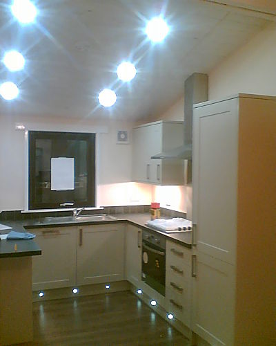 Led lights lighting up kitchens