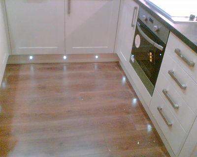 LED lights at kitchen floor