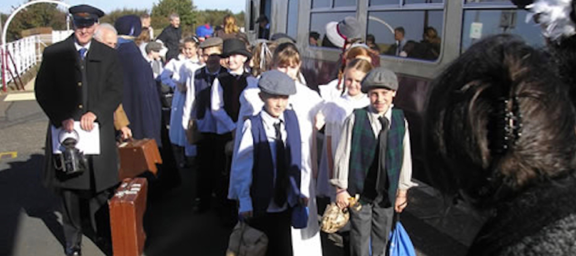 Children from schools in both Dumfries & Galloway and South Ayrshire council areas travelled in Victorian costume to meet each other in a celebration of the 130th anniversary of the line in 2007
