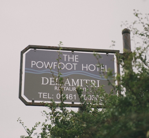 The Powfoot Hotel outdoor sign