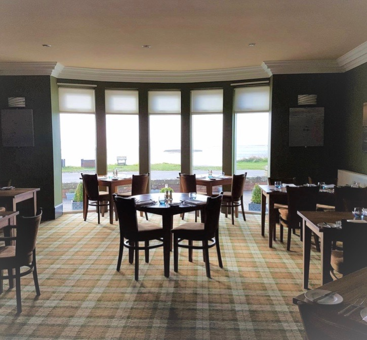 The breakfast room at the Powfoot Hotel
