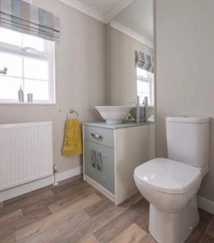 Modern And Stylish Wash Hand Basin Toilet In A Regal Park Homes Bathroom Refurbishment