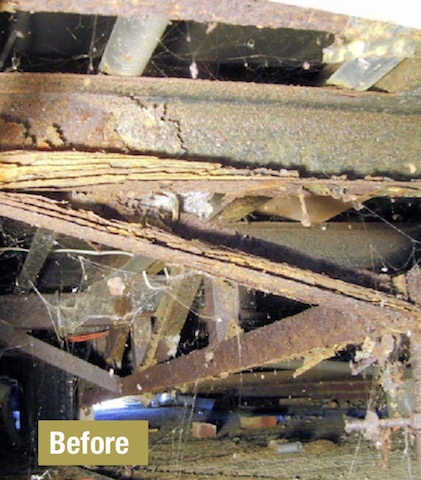 A Corroded Under Chassis On Park Home