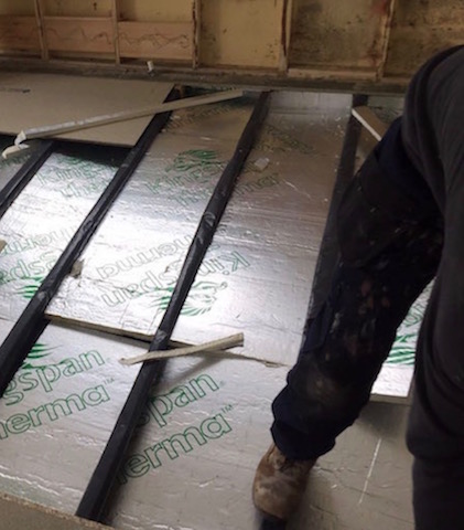 Floor Insulation Being Fitted By Regal Park Homes