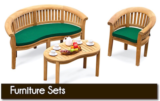 Quality garden furniture sets from Surrey Hills Country Gardens of Cranleigh, Surrey, UK.