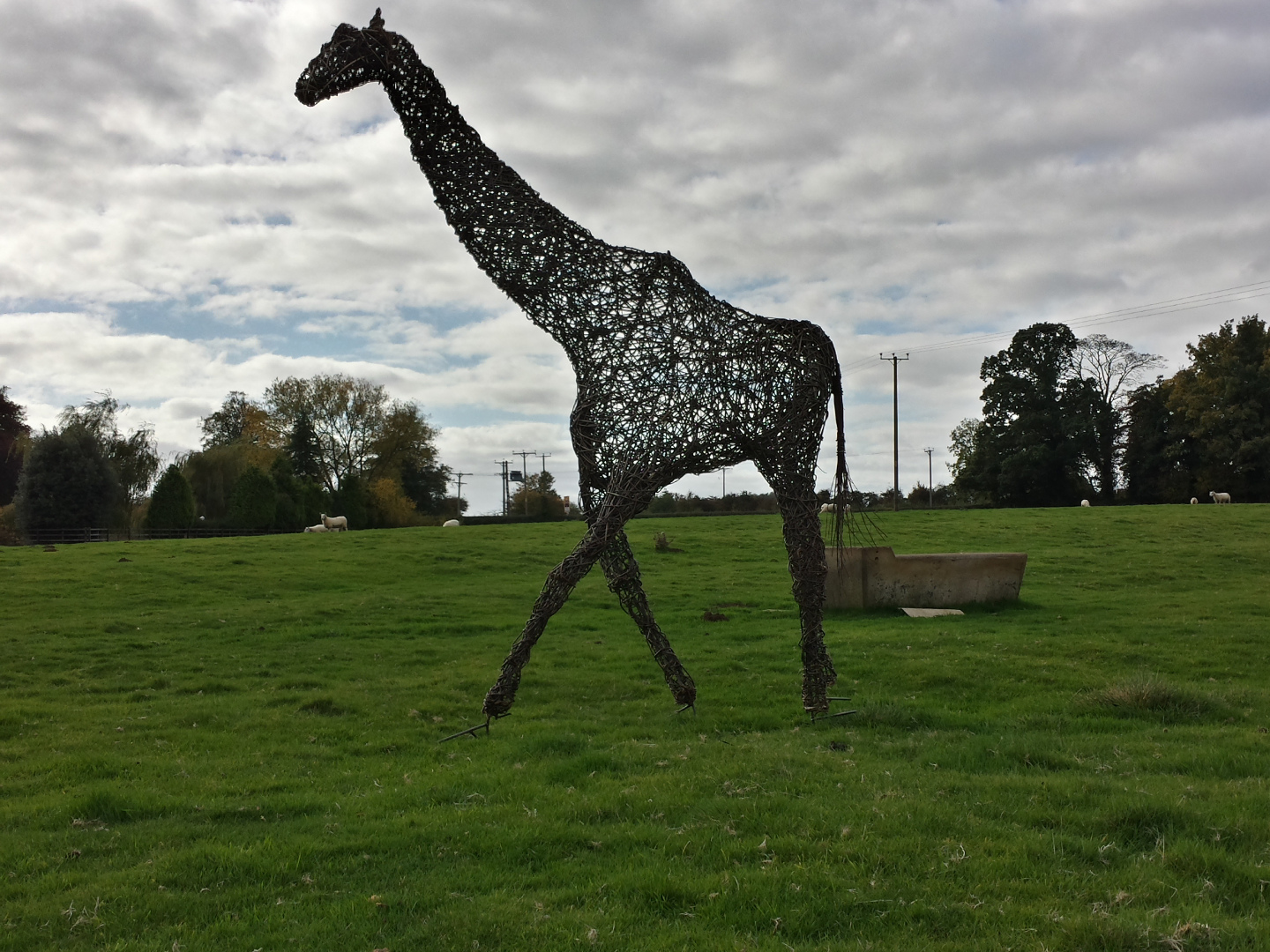10 ft Tall Willow Giraffe