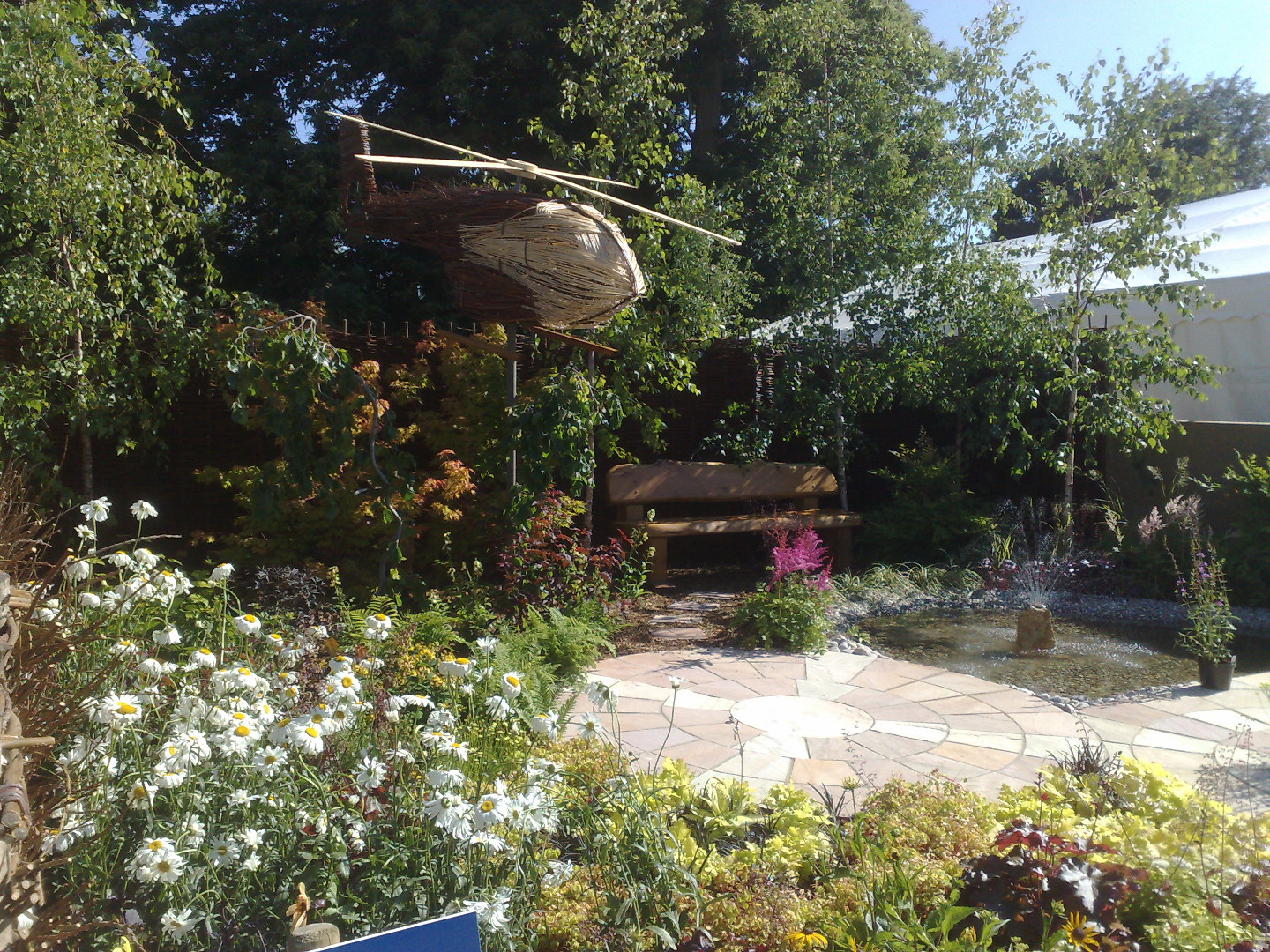 Willow helicopter in garden