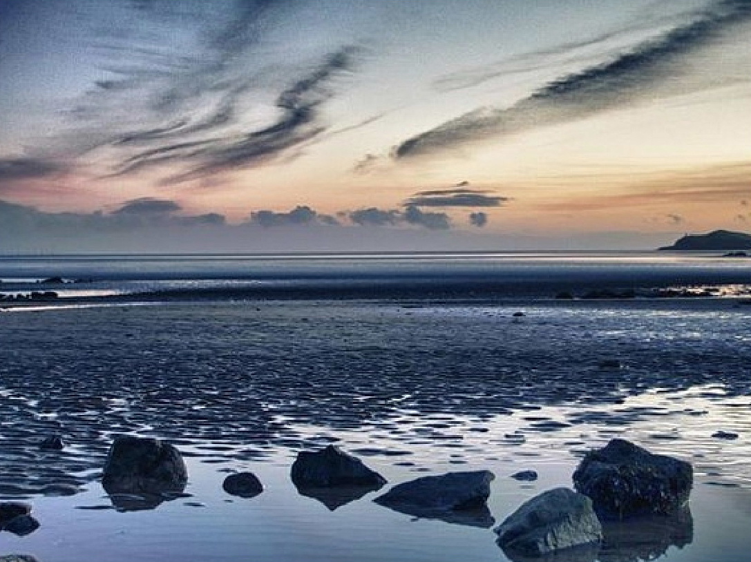 The stunning Solway Coast in south-west Scotland at dusk