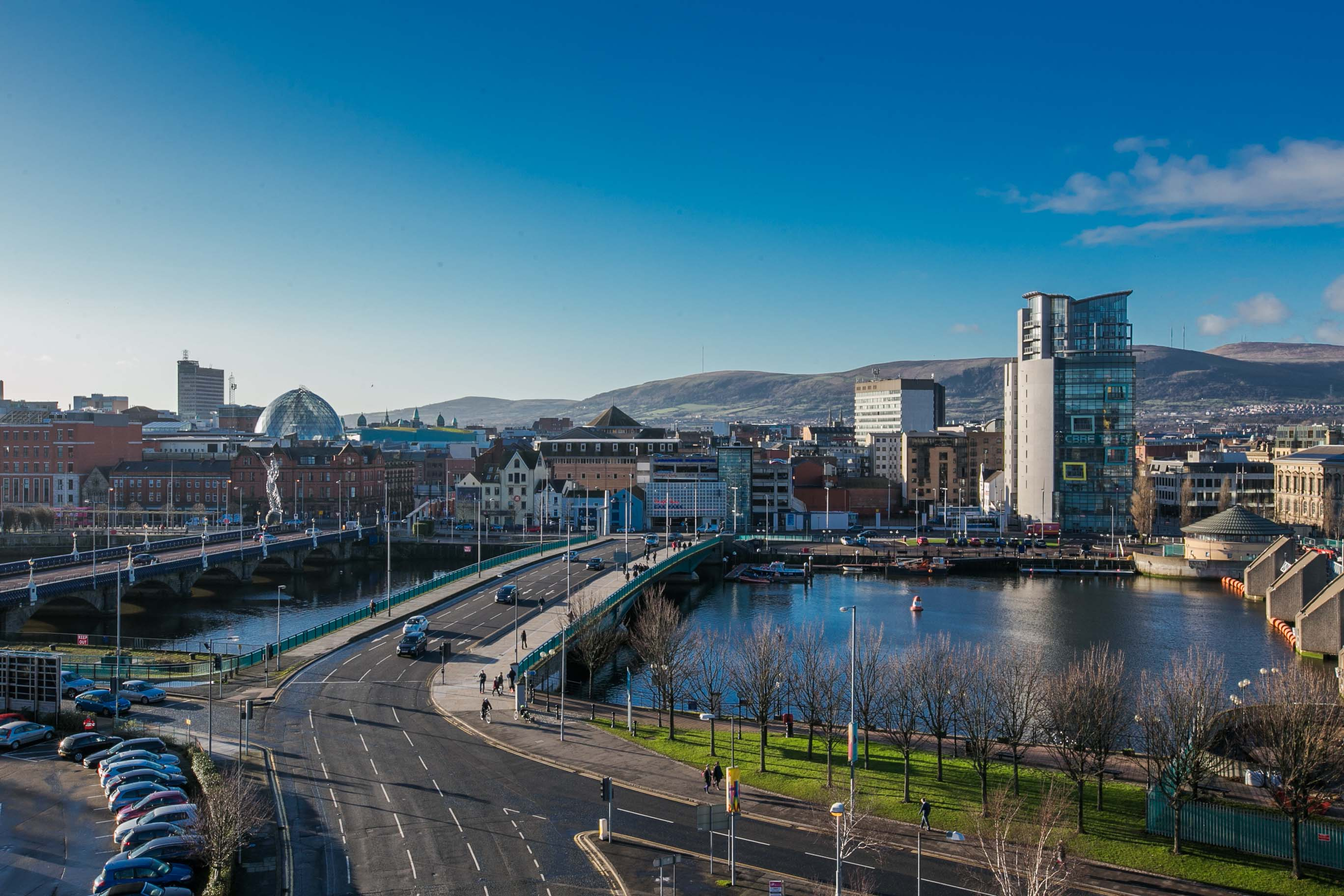 Open Kitchen Floor Plan Accommodation Belfast Short Term Apartment Rental