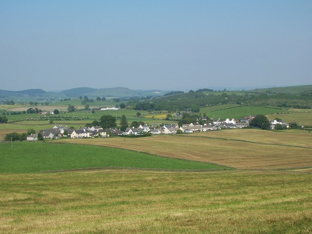 Crocketford village pictured from Crocketford Hill.