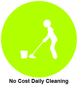 No cost daily cleaning